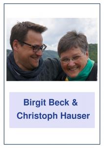 Birgit Beck und Christoph Hauser Spendenwand