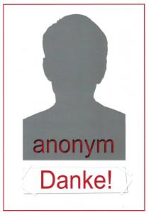 Spender anonym männlich